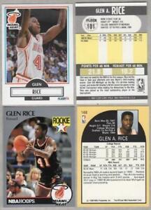 Details About Glen Rice Rookie Card Lot Of 4 1990 91 Fleer 101 X2 Hoops 168 X2 Heat