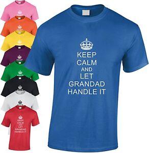 Keep-Calm-et-Let-Grand-Pere-Poignee-It-Enfants-T-Shirt-T-Shirt-Jeunesse
