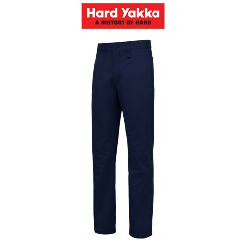 Mens Hard Yakka Core Basic Stretch Cotton Drill Work Pants Tradie Trade Y02596