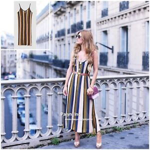 4565be564b RARE_NWT ZARA AW17 2017 VERTICAL STRIPE KNIT DRESS_S M L | eBay