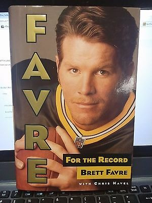 BRETT FAVRE FOR THE RECORD HB BOOK HAVEL SUPERBOWLGREENBAY PACKERS FOOTBALL NFL