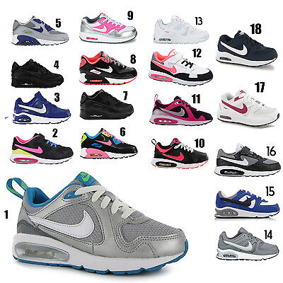 Kids Nike Air Max Leather Trainer Sports Running School Shoes Sizes 10 2.5 | eBay
