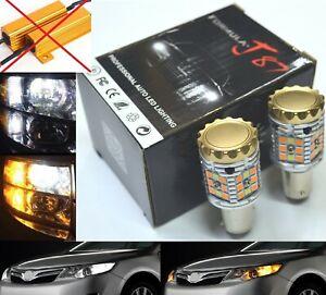 Canbus-LED-Switchback-Light-White-Amber-1157-Two-Bulb-Front-Turn-Signal-No-Error