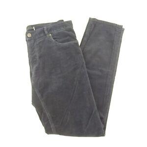 Prada Blue Straight Leg Corduroy Designer Pants Size 34