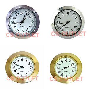 43mm-Metal-Bezel-fit-35mm-Hole-Clock-Watch-Insert-White-Dial-Quartz-Movement