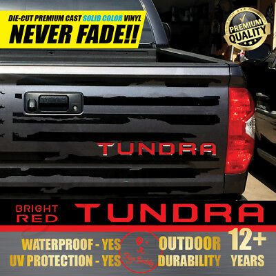 TUNDRA Tailgate Letters Vinyl Insert Die-Cut Decals for Toyota Tundra 2014-2019
