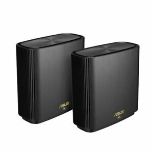ASUS ZenWiFi AX XT8 Wireless Tri Band Routers (2 Pack) - Black