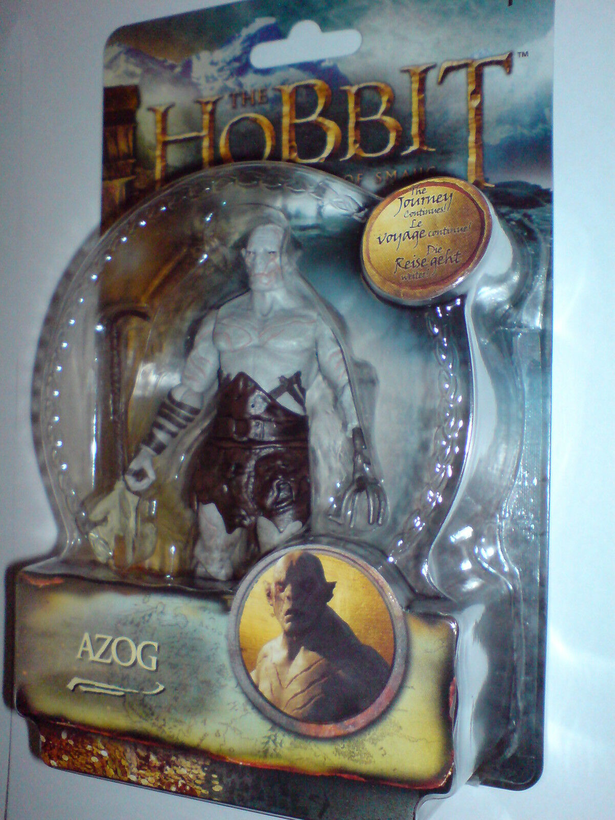 THE HOBBIT - THE THE THE DESOLATION OF SMAUG -3.75  AZOG W2 ACTION FIGURE NEW RARE V 810621