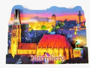Nuremberg-Germany-2-d-madera-Wood-Magnet-Souvenir-Alemania-nuevo