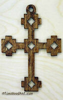 South Western Style Wood Cross, For Wall Hanging Or Ornament, Item S1-2