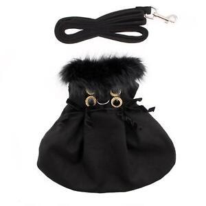 Doggie-Design-Wool-Fur-Trimmed-Dog-Harness-Winter-Coat-Black-Sizes-XS-XL