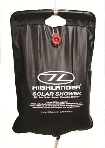 Highlander  Super Solar Shower 20lt Litre portable wash camping water