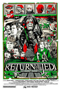 Return of the Jedi-01 Star Wars Movie Poster A1 High Quality Canvas Art Print