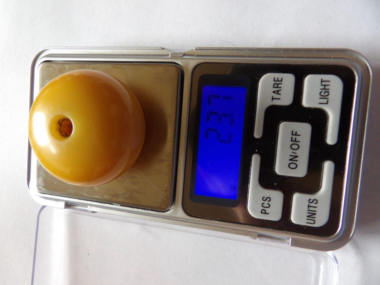 Genuine ART DECO enorme Simichrome testato eggyolk GIALLO IN IN IN BACHELITE Perline XWL347-1 f0b449
