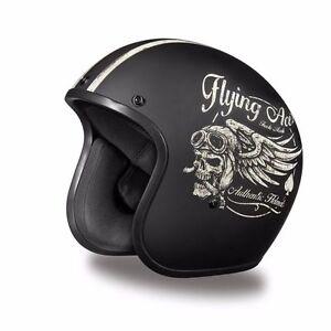 Built for Speed Daytona 3//4 Motorcycle Helmet FREE SHIP Harley Style