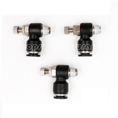 """tubo de la válvula de control de flujo de aire Od 5//32/"""" X NPT 1//8/"""" Neumáticos Empuje Montaje 5 un"""