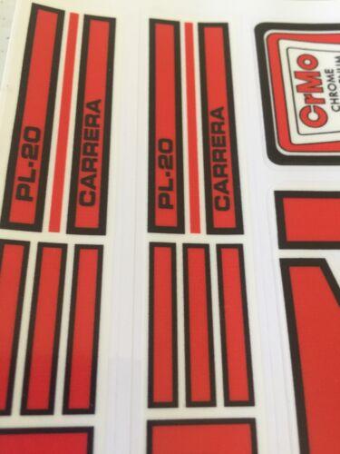 Redline PL 20 Carrera Decals Sticker Set Era Correct Suit Your Old School BMX
