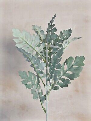 Artificial Senecio Leaf Dusty Miller Faux Greenery Silk Flower Leaves Filler Ebay