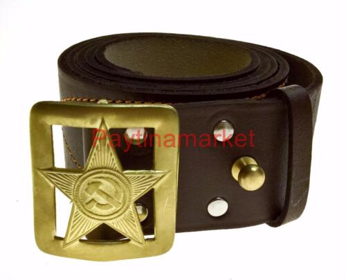 Russian Military Belt Red Army Officer Soviet Сommander Uniform USSR Leather