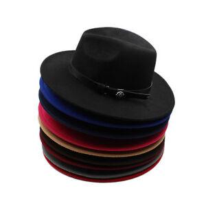 Men Women Panama Hats Sombrero Wide Brim Caps Fedora Trilby Sunhat ... 3cebcb78c2a