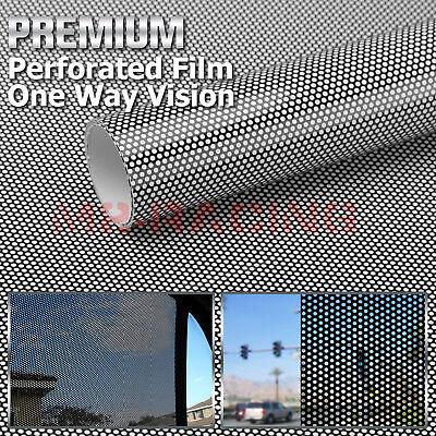 "4/""x8/"" Sample White Perforated One Way Vision Print Media Vinyl Window Sticker"