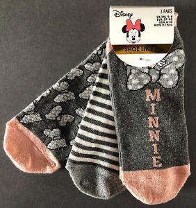3-Paar-Disney-Minnie-Mouse-Maus-Damen-Sneaker-Socken-Set-Fuesslinge-37-42-Primark