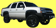 4 Piece Front & Rear BOLT-ON RIVET POCKET Style Smooth Fender Flares Matte Black