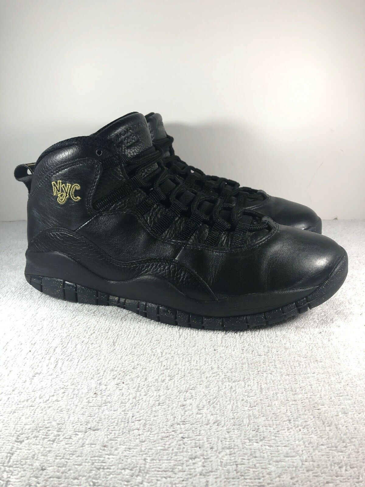Nike Air Jordan 10 X NYC New York 310805 012 Black gold Size 9  Mens