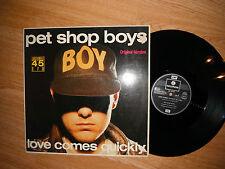 """PET SHOP BOYS LOVE COME QUICKLY RARE ORIG VERSION 12"""" GERMAN PRESS1986"""