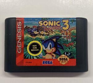 Sonic the Hedgehog 3 (Sega Genesis, 1994) Cartridge Only - NOT FOR RESALE!