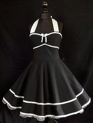 50er Petticoat Rockabilly Jugendweihe Konfirmation Abiball Abend Party Kleid