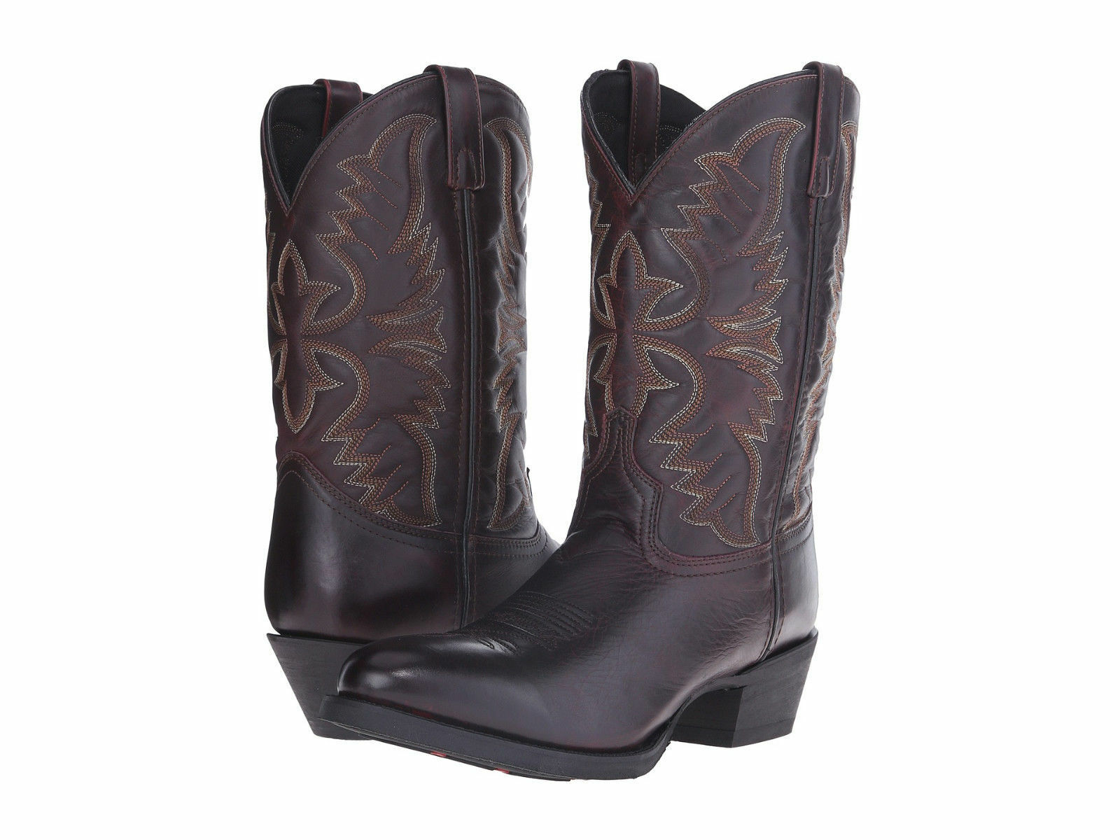 botas para hombre Negro Cereza Larojoo vaquero occidental 68458