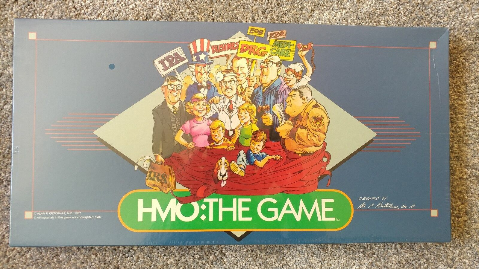 New, Sealed, Vintage 1987 HMO  THE GAME Alan P. Kretchmar, M.D. Board Game