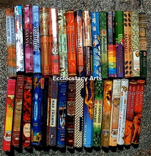 36 Hex Packs-over 700 Pcs-Hem-Padmini-BIC-Kamini-Incense Sticks