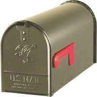 Solar E1100bz0 Bronze Heavy Duty Metal Standard Rural Mailbox 0143339