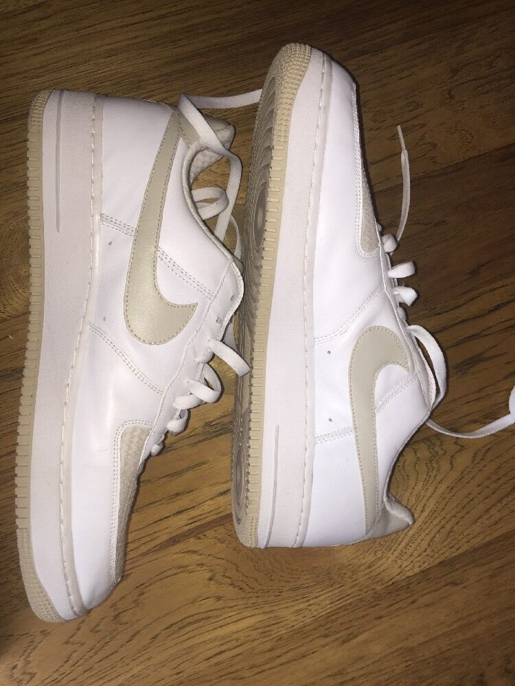 Der nike force air force nike ones. brs productions. Weiß und tan. Größe 14 de4687