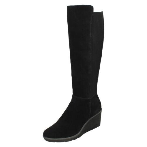 la de Negro hasta rodilla Señoras cuña de Madison' botas 'Hazen Clarks tacón UwCxqI0H