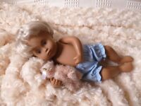 Bjb Dolls Clothes, Blue Knickers Pants Fit 11 / 12 Sasha Baby Girl Doll