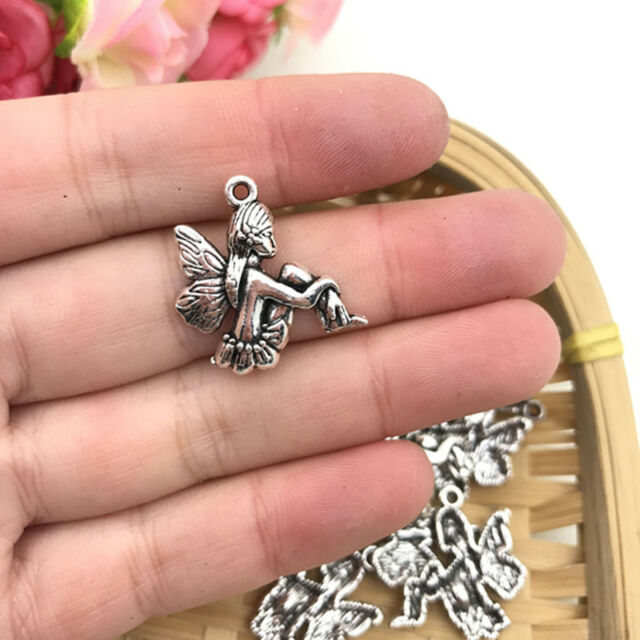 6pcs Angel Wings Charm Tibet silver Charms Pendants DIY Jewellery Making crafts