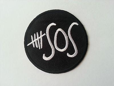 HEAVY METAL PUNK ROCK MUSIC SEW / IRON ON PATCH:- 5 SECONDS OF SUMMER 5SOS