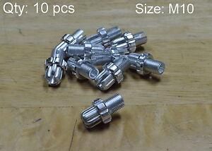 TEN 10 pcs Bike Brake Cable Adjuster Screws 7mm
