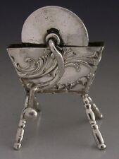 RARE Vittoriano HANAU Argento Sterling Pietra in miniatura SMERIGLIATURA RUOTA 1897