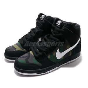 sale retailer aecba 535df Image is loading Nike-SB-Dunk-High-PRO-Camo-Black-White-
