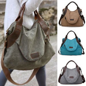 0830937e99 New Women s Canvas Handbag Shoulder Messenger Bag Satchel Tote Purse ...