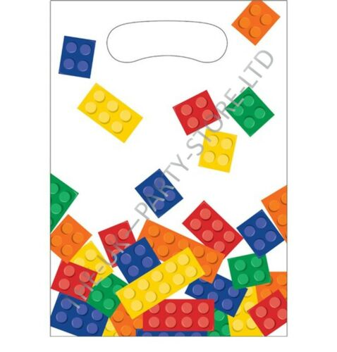 BLOCK PARTY BRICKS LEGO LOOT BAGS Birthday Party Supplies Gift Pack Party Kids