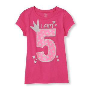 Image Is Loading NEW 5th BIRTHDAY 5 Years Girls Happy PRINCESS