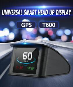 GPS-HUD-For-All-Voiture-Prevenir-Speed-Compteur-de-Vitesse-Affichage-tete-haute