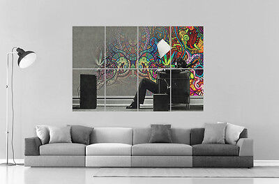 Trippy Psychedelic Abstract 02 Wall Art Poster Great Format A0