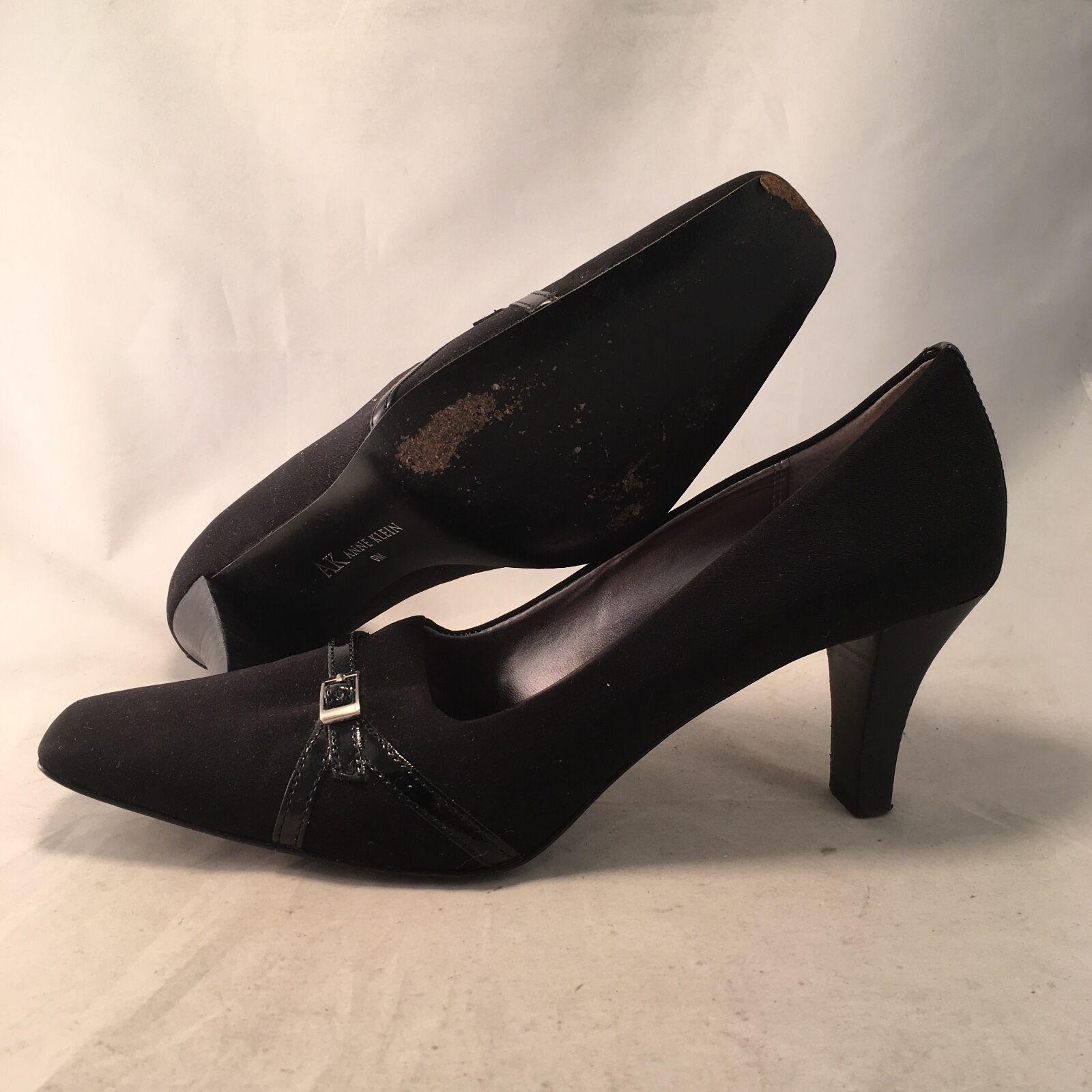 Anne Klein Algier 9m Black Fabric Pump - Women's size 9m Algier - Great 5d9bcd