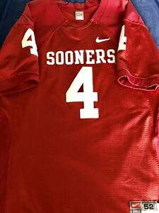 new product cdab4 62e26 Details about Authentic Oklahoma Sooners #4 OU Nike Football Jersey Size 52